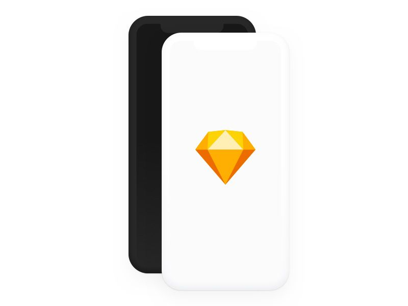 iPhone X Clay Mockup Free sketch resource for download