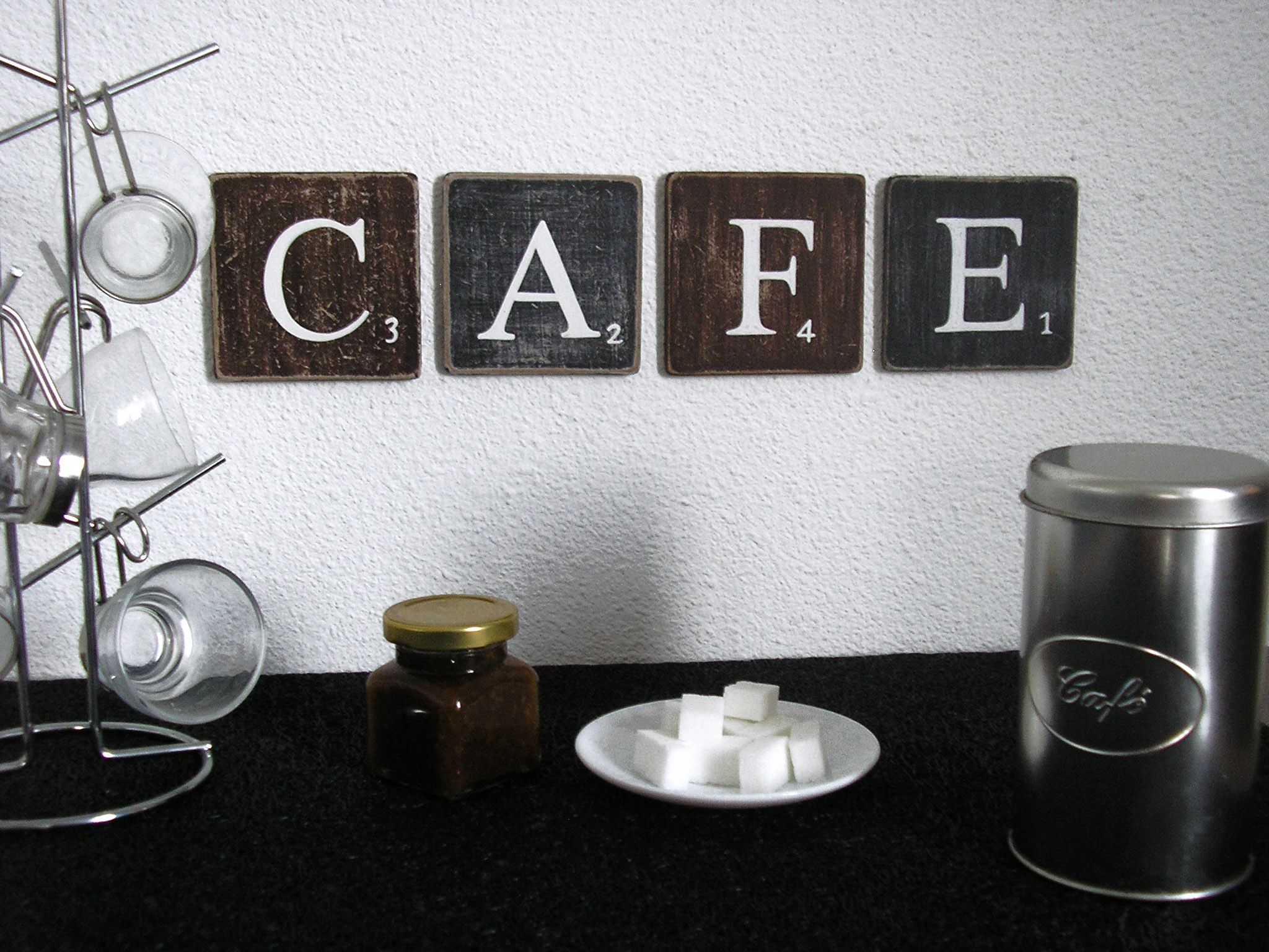 Attrayant Lettres Décoratives CAFE : Pour Une Décoration Murale De Cuisine, Café,  Bar, Une Jolie Alternance Marron Et Noir, Qui Rappelle La Couleur Du Café.