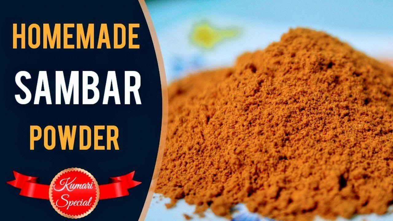 how to make sambar powder in kannada