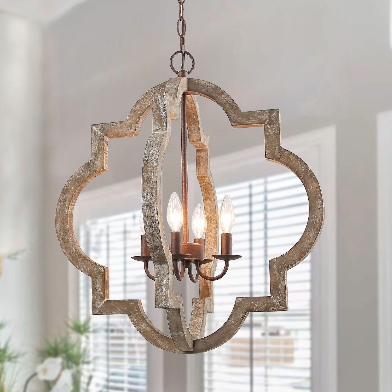 wood pendant light