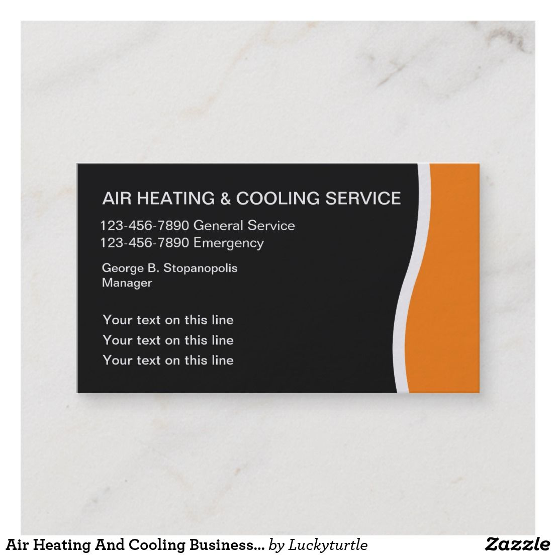 Air Heating And Cooling Business Cards Zazzle Com Heating