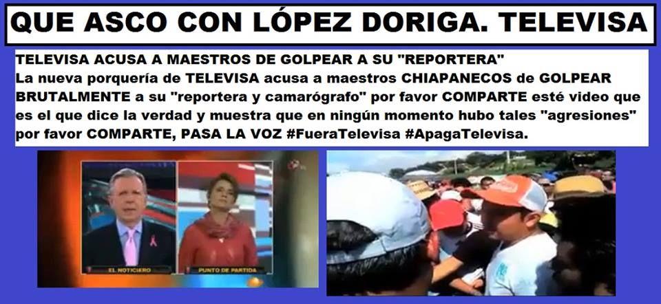 Movimiento por la IV República: Calumnias vulgares de Televisa contra la CNTE