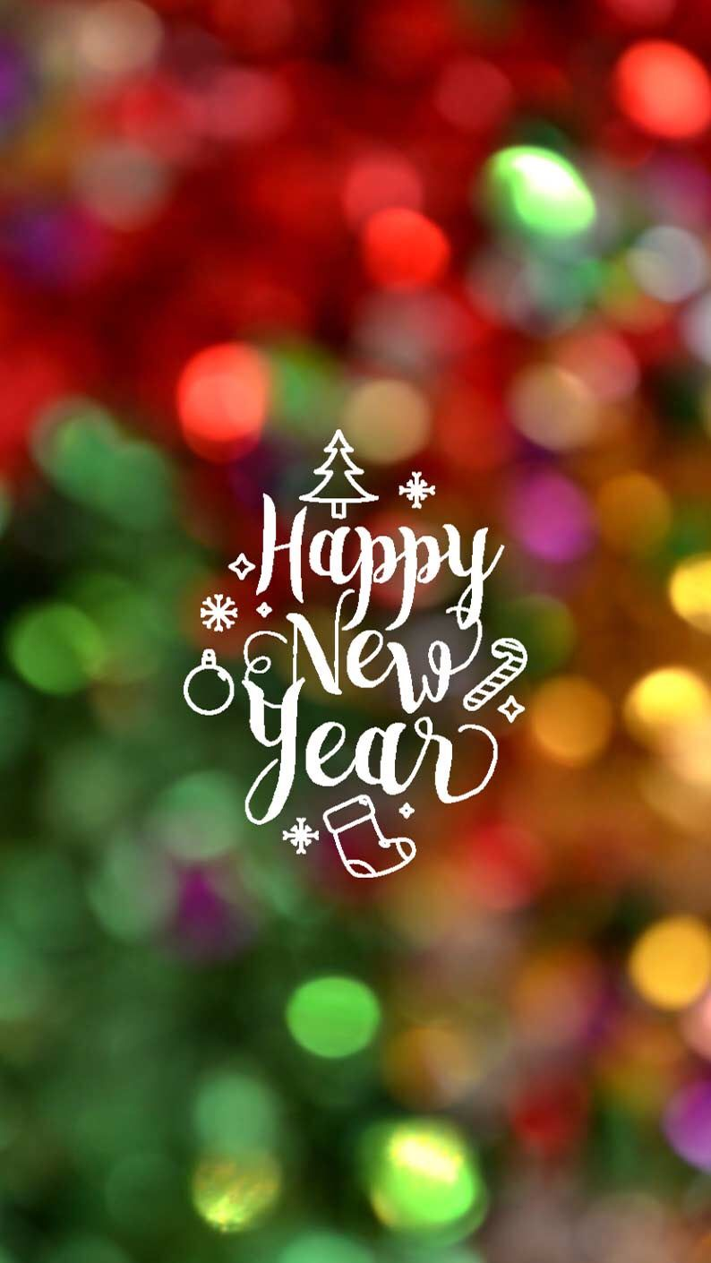 Wallpaper iPhone/happy holidays/new year ⚪ Happy new