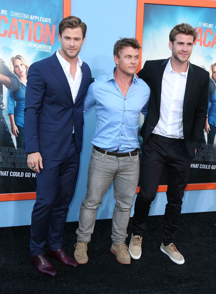 Chris Hemsworth, Liam Hemsworth, And Luke Hemsworth At -1957