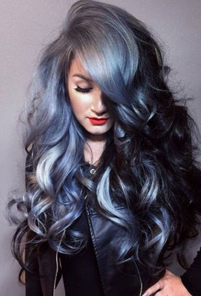 two toned black and silver hair. #color #crush #of #the