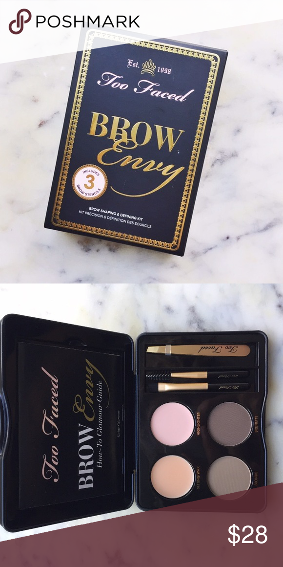 Too Faced Brow Kit Brow Envy Kit By Too Faced Authentic And Brand
