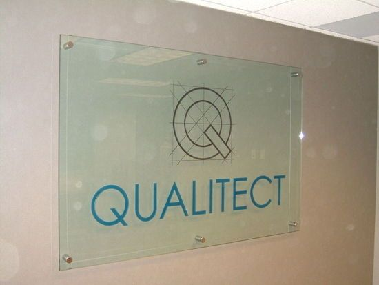 Qualitect Glass Sign WALL MOUNTED SIGN Technique: CARVED ...