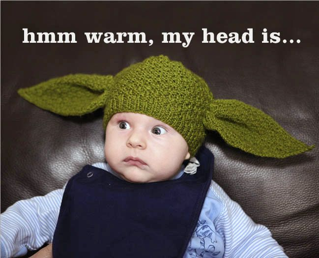 OK...I can\'t stand how cute this is! PDF pattern only Yoda Hat ...