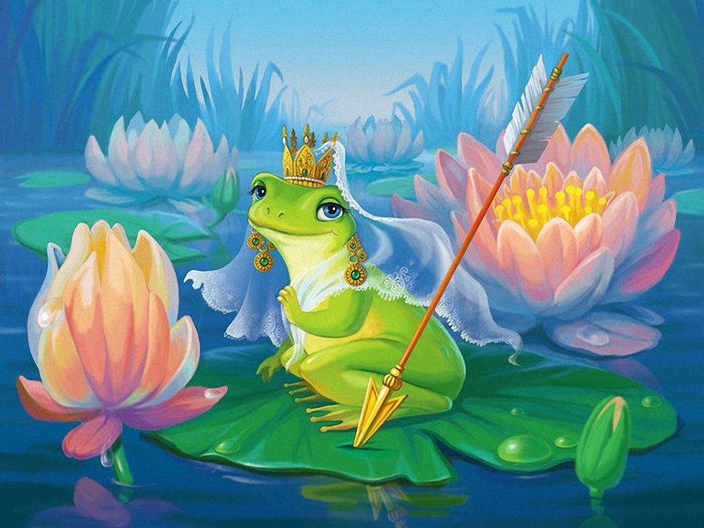 Открытка лягушка-царевна