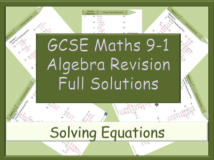 GCSE Algebra Revision 91 Solving Equations Full