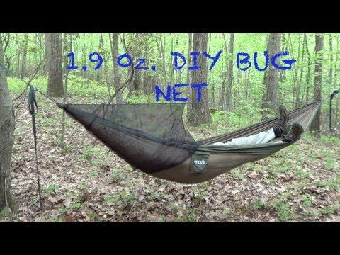 This Is A Set Up Of Homemade Bug Net For My ENO Hammock It Only Weights Ounces And Its Made From No See Um Netting To Complete