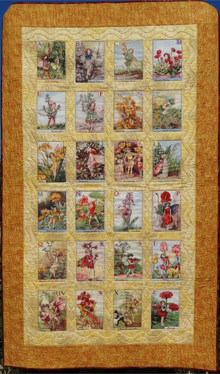 Show Details For Alphabet Flower Fairy Quilt Pattern