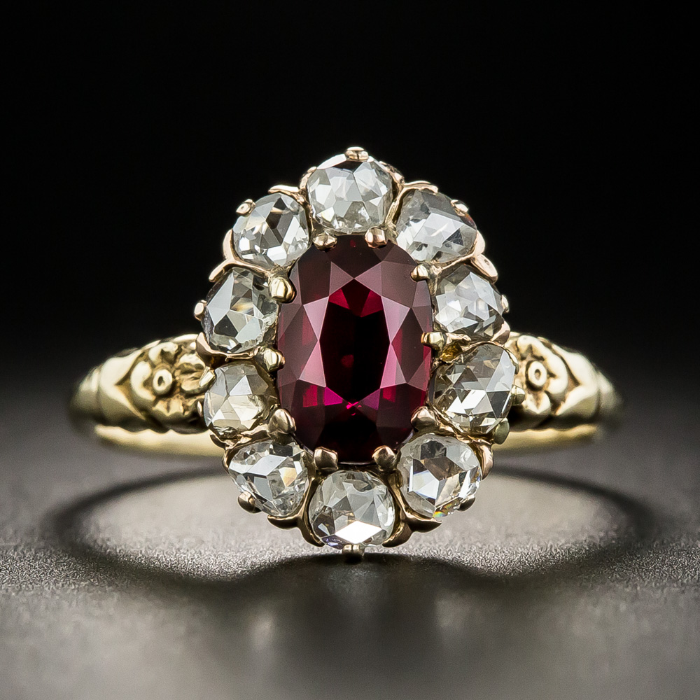 A Bright And Beautiful Faceted Oval Natural No Heat Ruby From Thailand Formerly Siam Suffused With Red Diamond Ring Online Gold Jewellery Victorian Jewelry