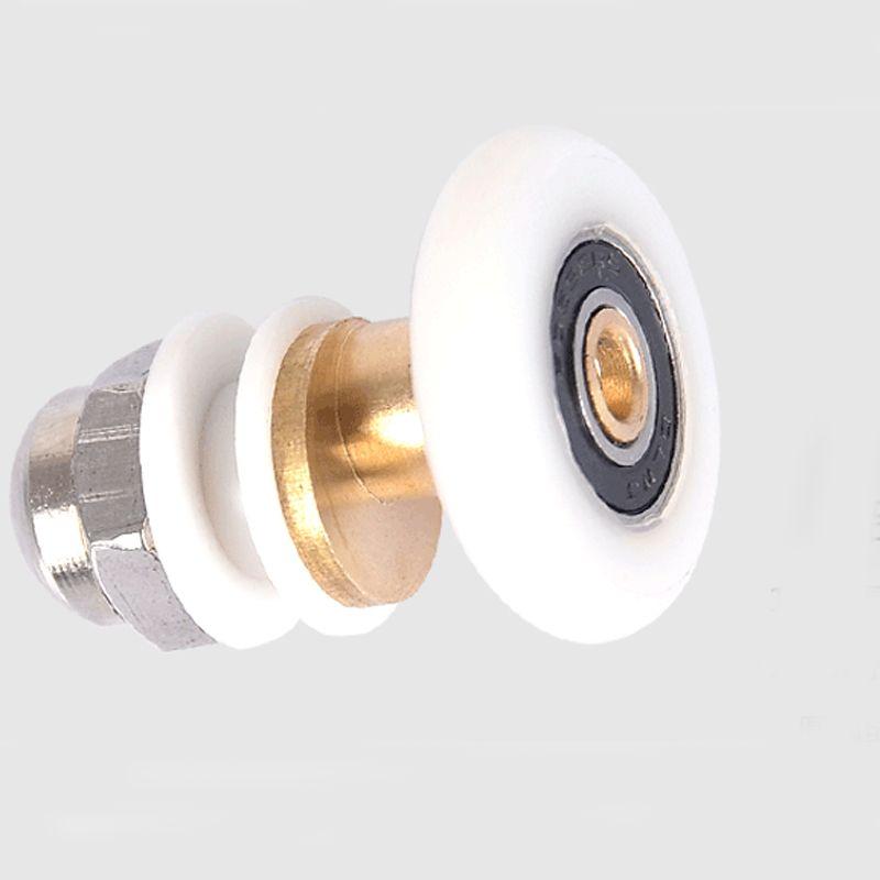 Shower Room Pulley Sliding Door Rollers Runner Wheel 27mm Wheel Diameter Replacement Parts Sliding Door Rollers Sliding Doors Pulley