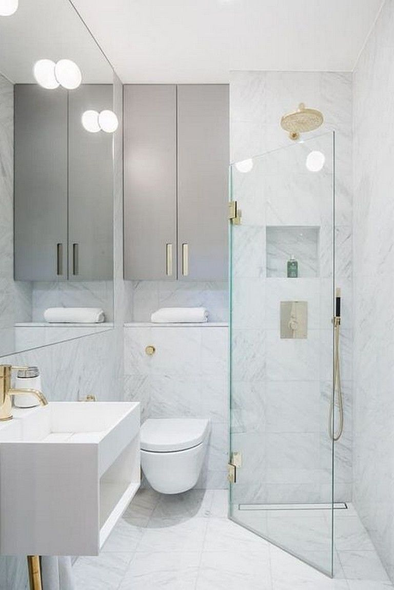 33 Smart Solutions To Design A Tiny Bathroom Shower Ideas Bathroom Bathroomideas Bathroom Remodel Shower Small Bathroom Remodel Small Bathroom With Shower