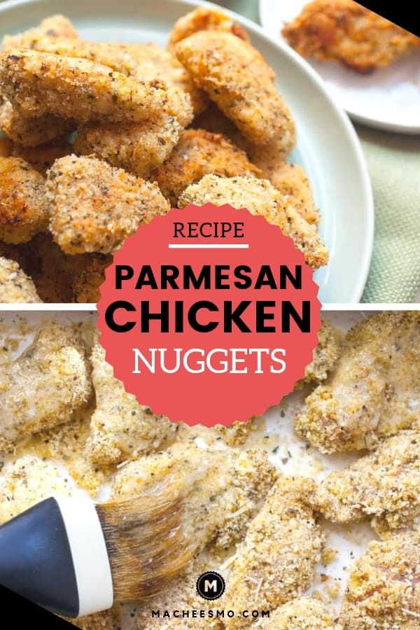 Baked Chicken Nuggets Recipe - Parmesan Crusted ~