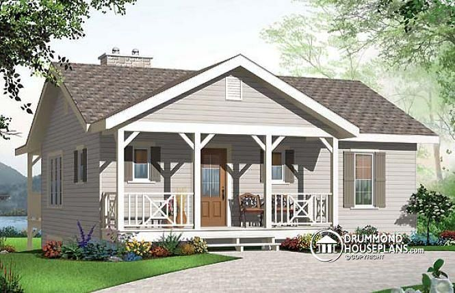 W3955 - Affordable simple northwest style lakefront home plan, 3 ...