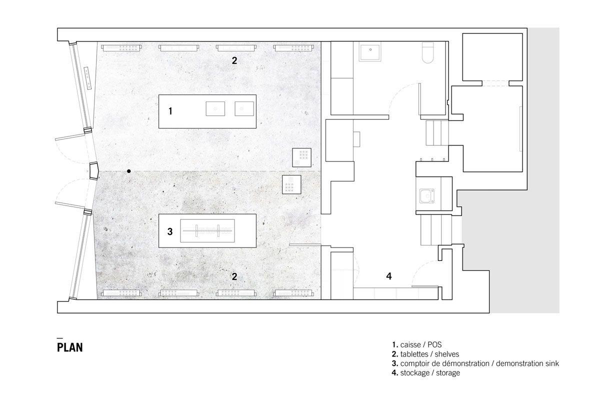 Aesop Boutique Designed By Naturehumaine Store Plan Boutique Design Interior Floor Plan