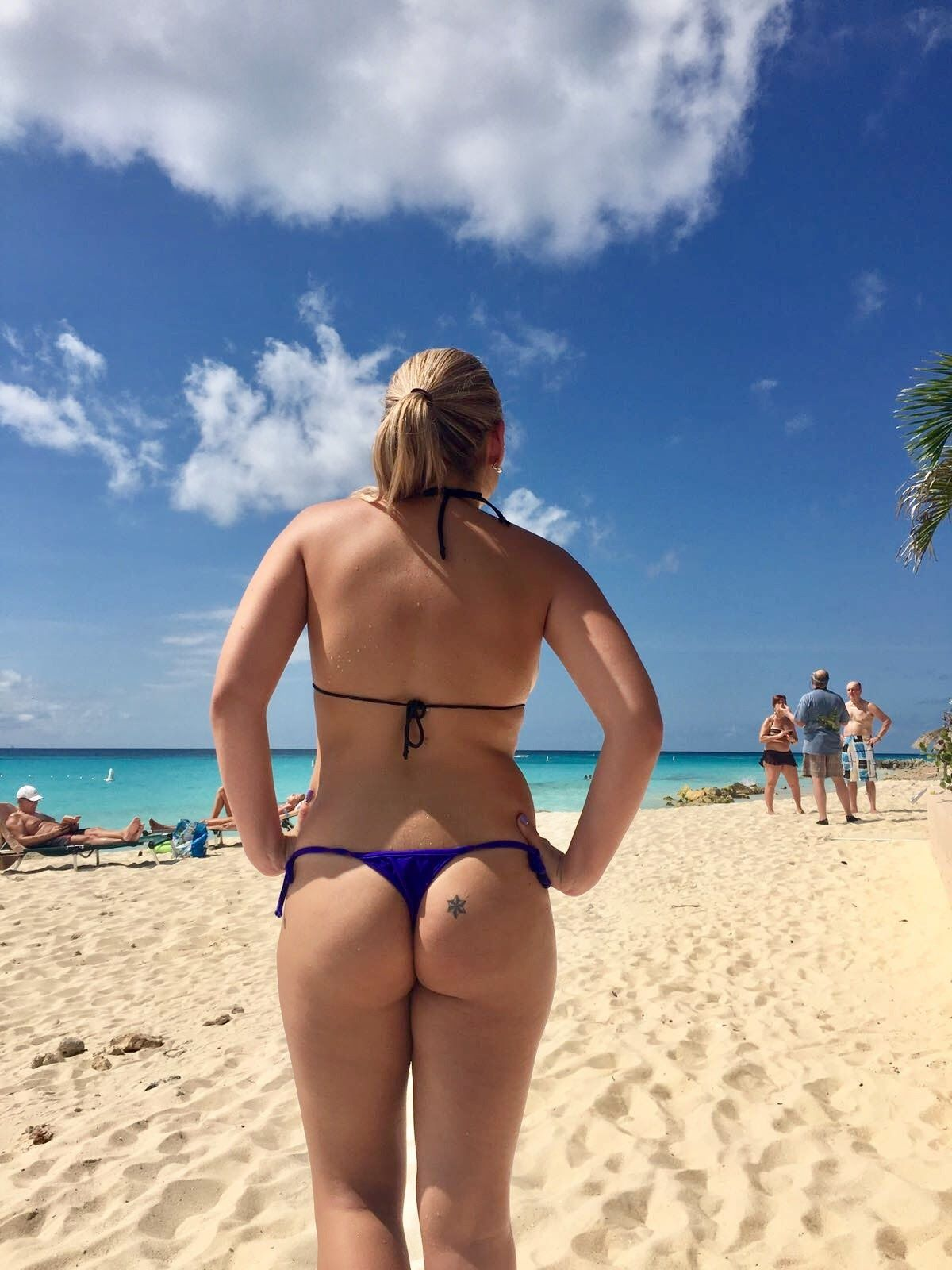 Thong Bikini On Beach