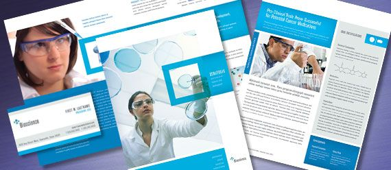 Create professional marketing materials for a science and research organization with graphic design templates. Customize the layouts to create unique brochures, flyers, datasheets, and more. Creating quality graphic design doesn't have to be rocket science. Start with science and research