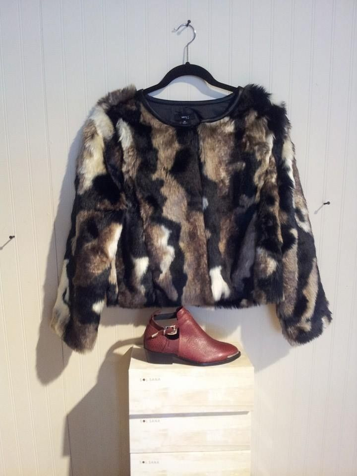 Vintage inspired faux fur coat....perfect with a maxi dress or skinny denim