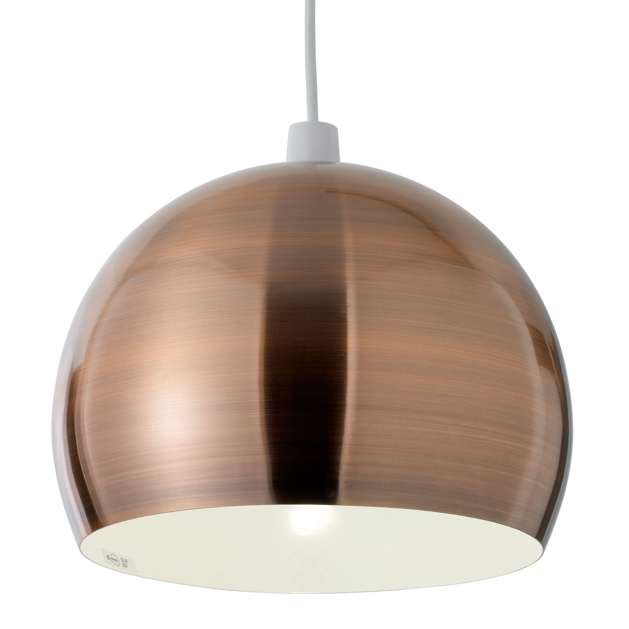 Nell copper pendant light shade d280mm pendant lighting lights nell copper pendant light shade d285cm departments diy at bq mozeypictures Image collections