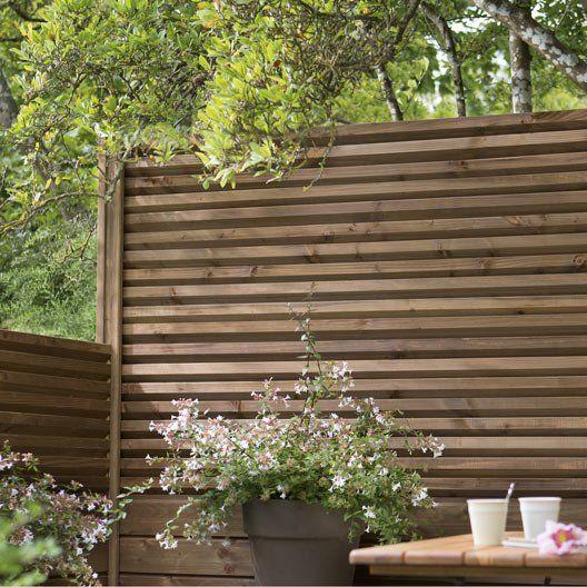Lame en bois embo ter brun x cm x mm - Barriere de jardin leroy merlin ...
