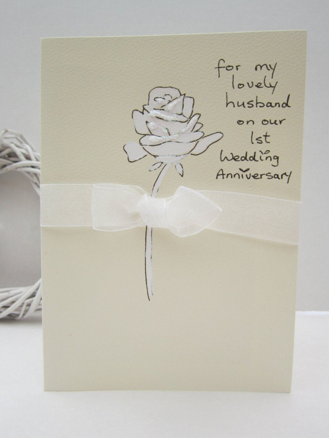 Anniversary card for husband handmade anniversary cards