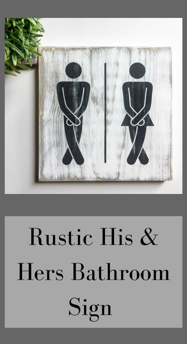 Black And White Bathroom Sign Bathroom Art Modern Home Decor His And Her Sign Bathroom Poster Minimalist Art Deco Bathroom Bathroom Signs Bathroom Posters