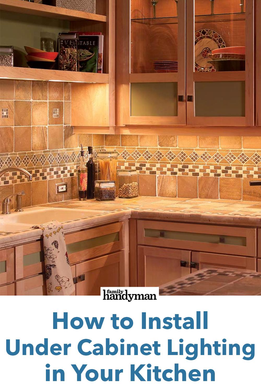 Under Cabinet Lighting In Your Kitchen