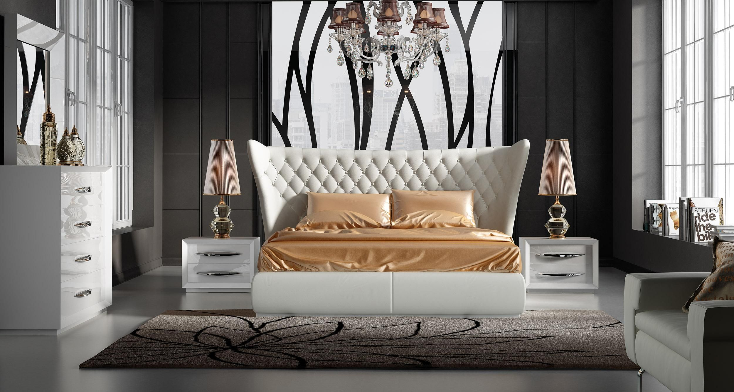 Stylish Leather Luxury Bedroom Furniture Sets | Luxury bedroom sets, Luxurious  bedrooms, Contemporary bedroom sets