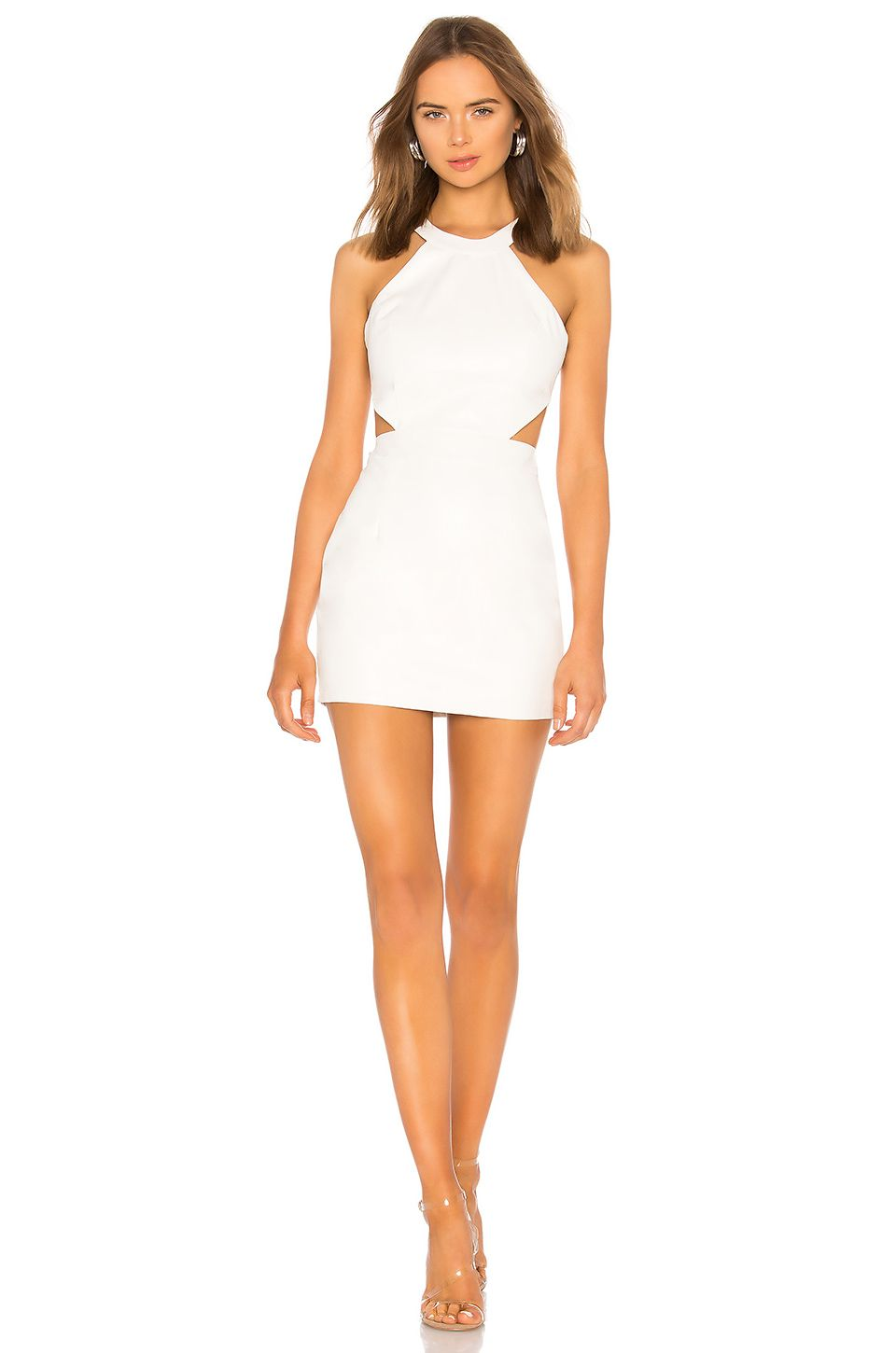 By The Way Willa Faux Leather Mini Dress In White Mini Dress Leather Dress Fashion Tight Mini Dress [ 1450 x 960 Pixel ]