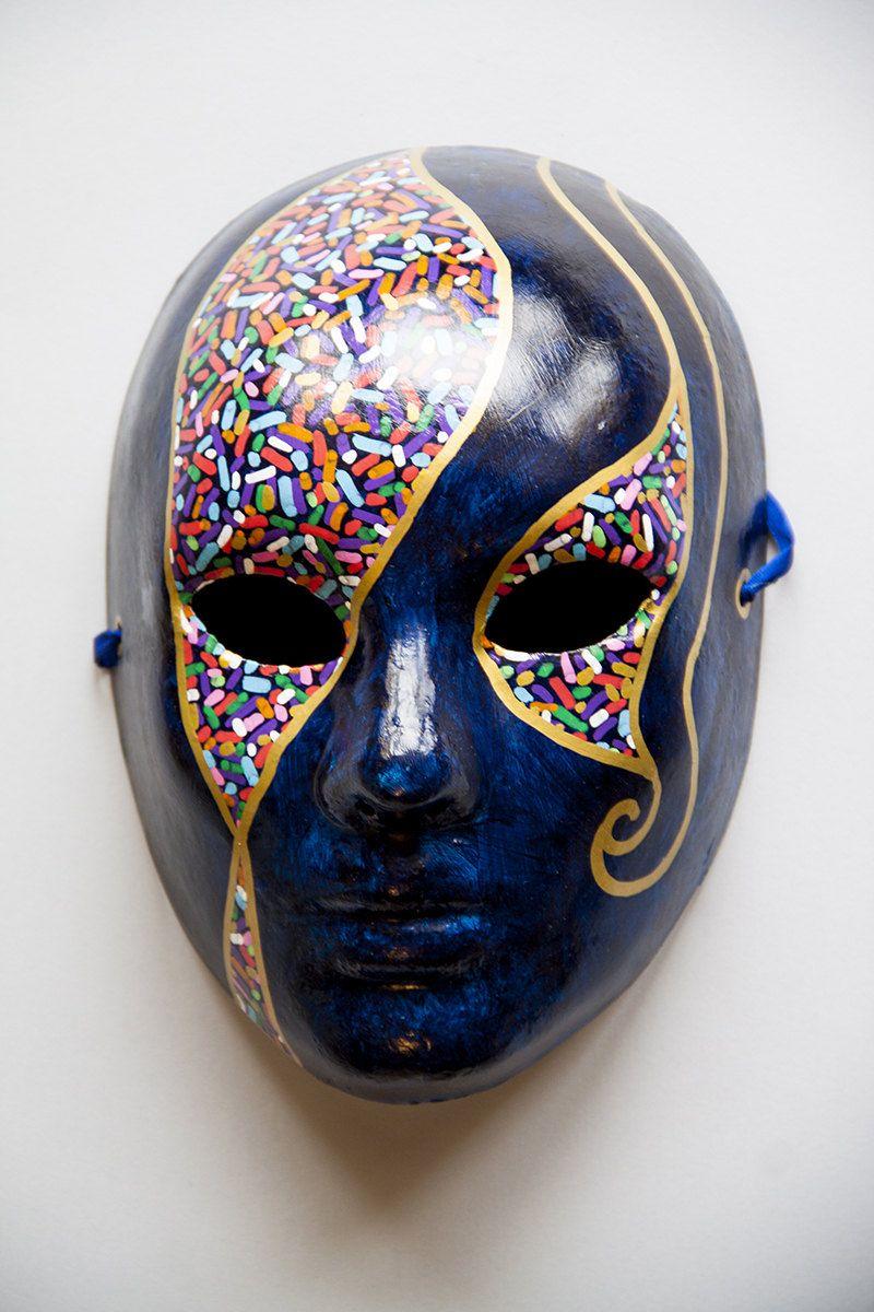Mask plaster Mask painting, Blue masquerade masks, Mens