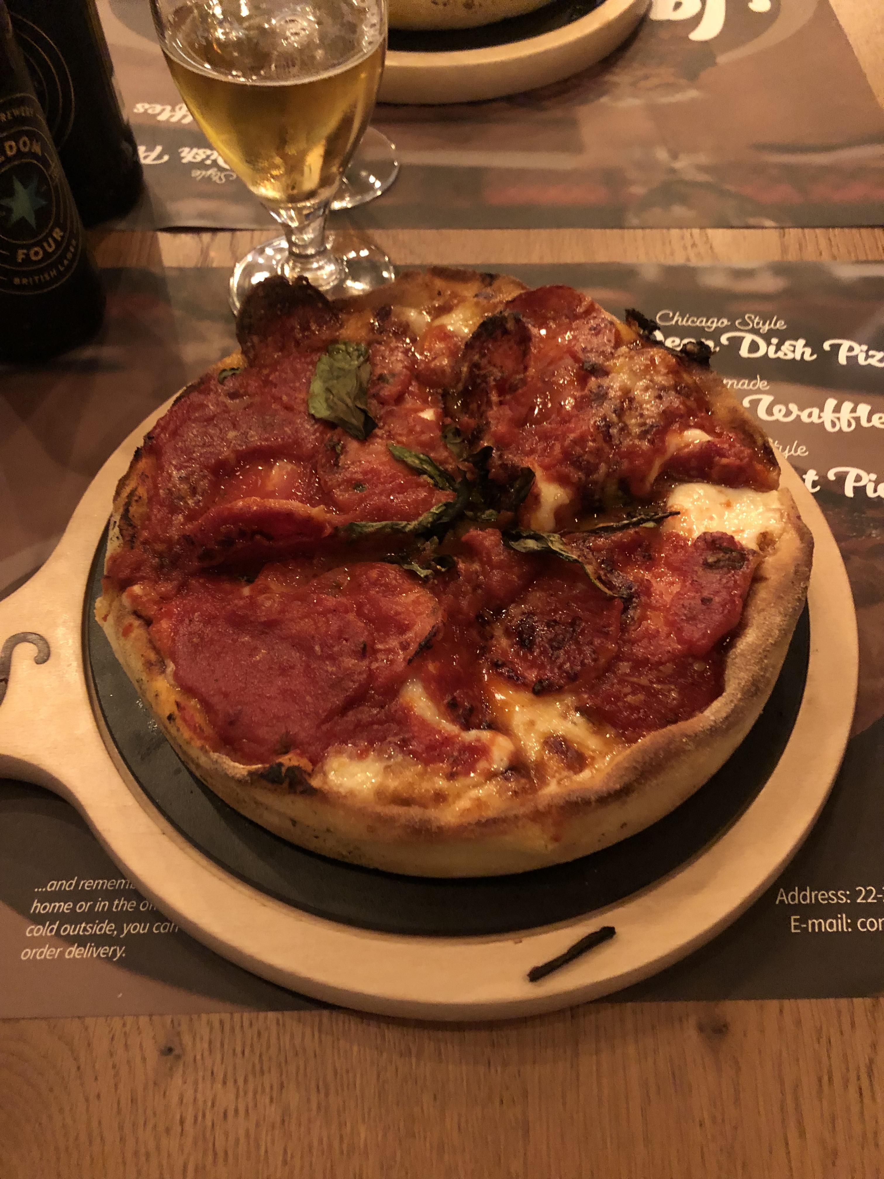 Chicago Style In London Deep Dish Pepperoni And Cheese