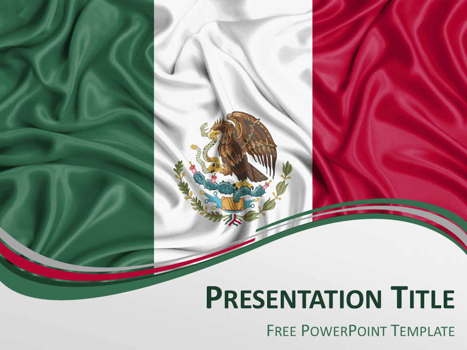 Free powerpoint template with flag of mexico background free powerpoint template with flag of mexico background toneelgroepblik Images