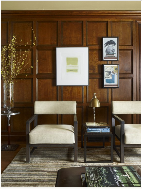 Wood Paneled Room Design: Using The Panels As A Grid...