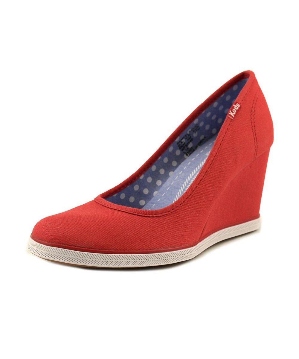 e798db4be5c KEDS Keds Damsel Women Open Toe Canvas Red Wedge Heel .  keds  shoes  pumps    high heels
