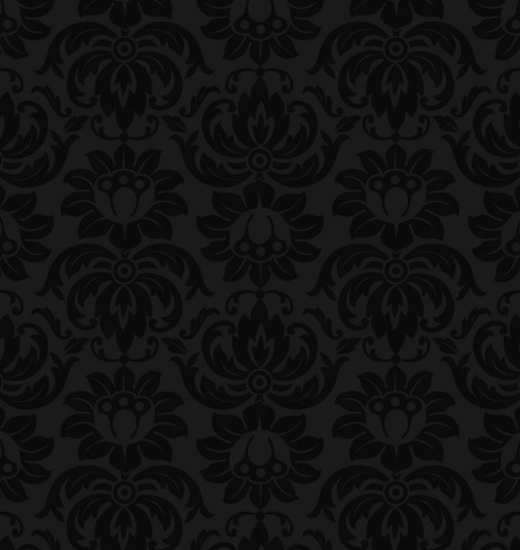 Black Damask Pattern