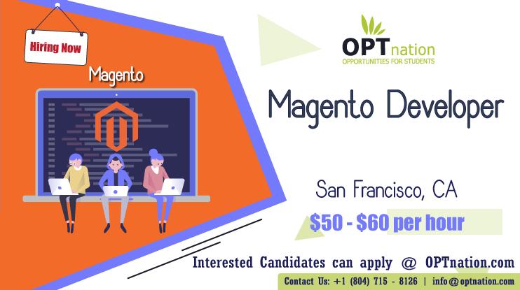 We're Hiring Magento Developer in San Francisco, CA. Build