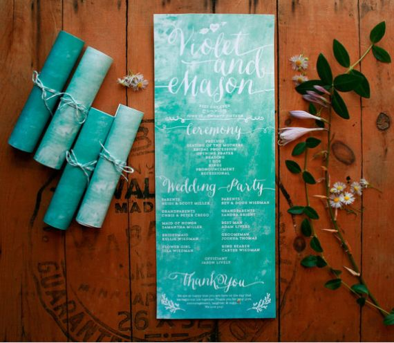 Rolled Wedding Invitations: Why Rolled Wedding Programs Are So Much Easier