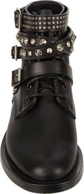 67f598a920c Saint Laurent Studded-Strap Ranger Ankle Boots - Ankle Boots - Barneys.com