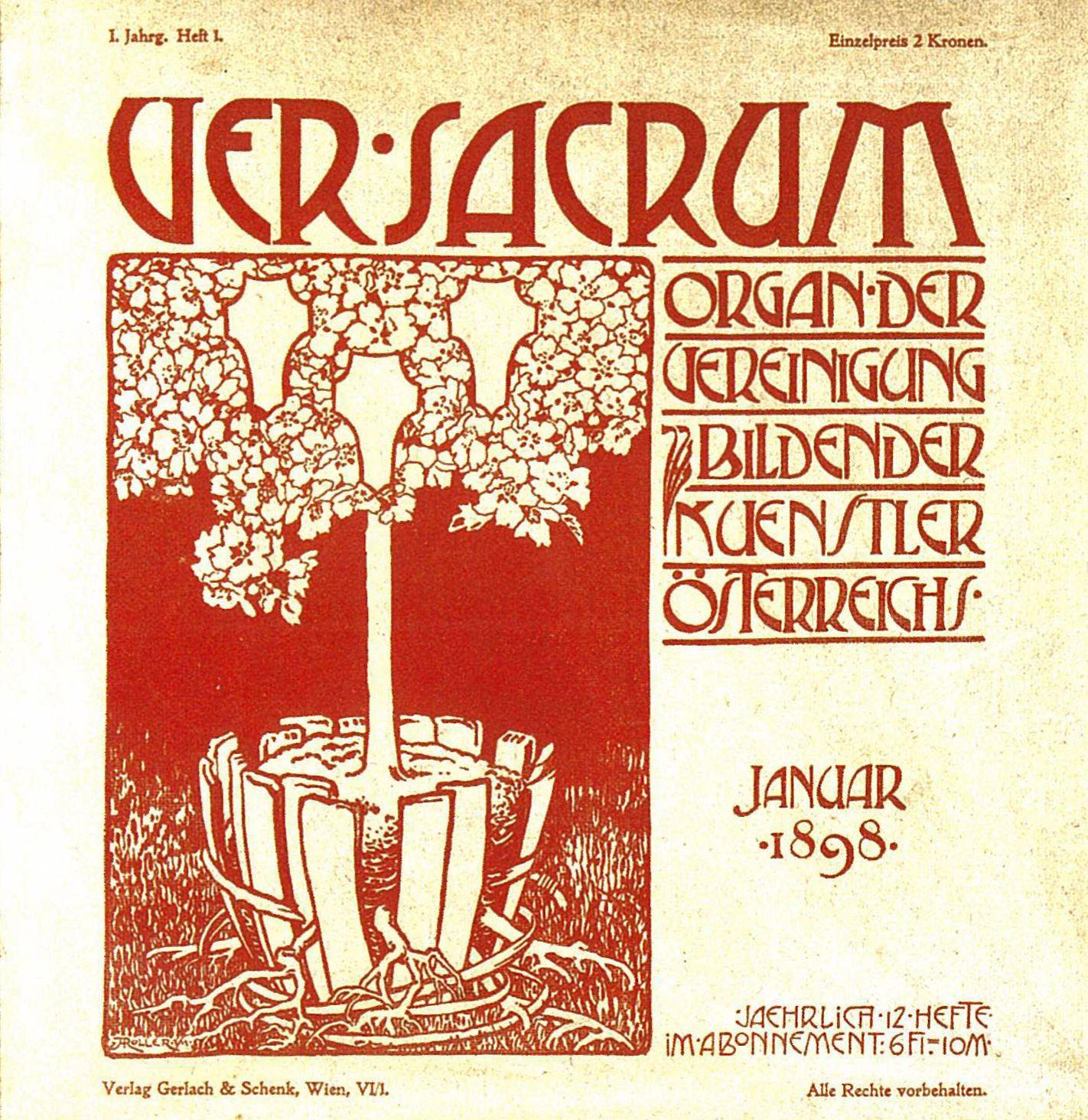 """Versacum era um lema da Secessão que estava na faixa do edifício onde eles estavam """"instalados""""."""