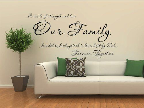 Families are forever...WALL QUOTE DECAL VINYL LETTERING SAYING