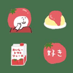 トマト推しの絵文字 2020 絵文字 Line 絵文字 トマト