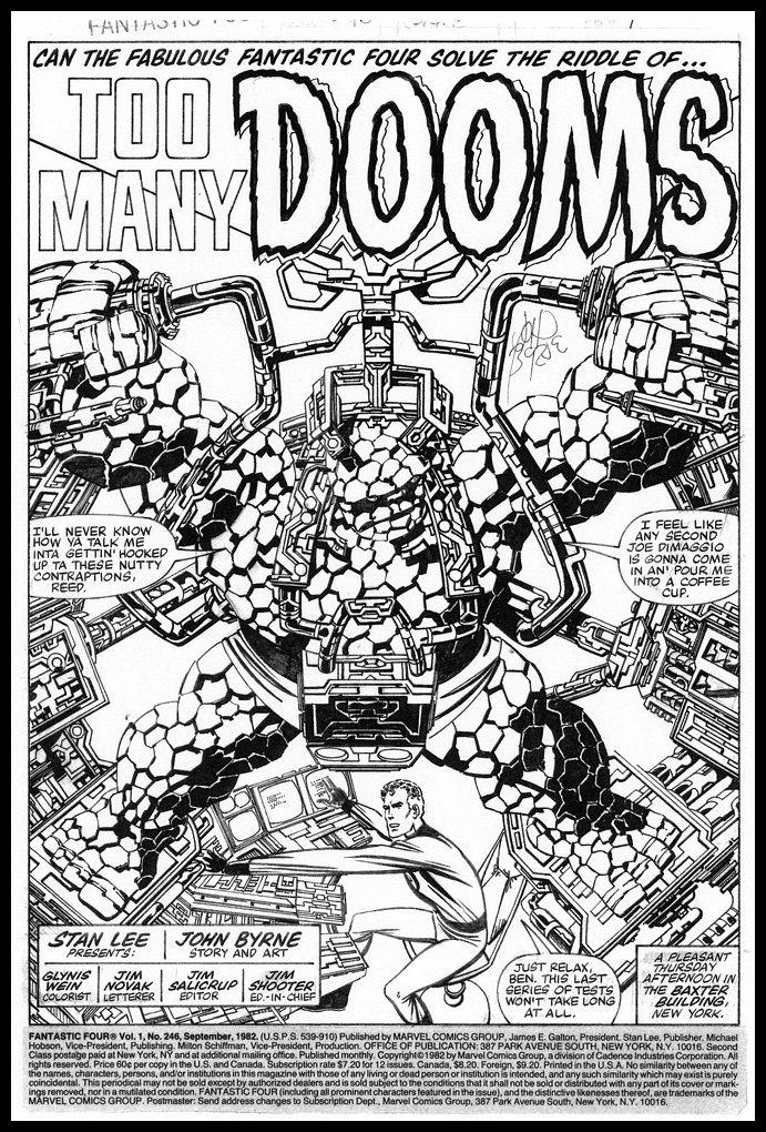 J  Byrne - F F  246 Comic Art | John Byrne | John byrne