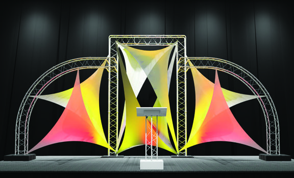Truss And Spandex For A 24 Stage Great For Lighting And