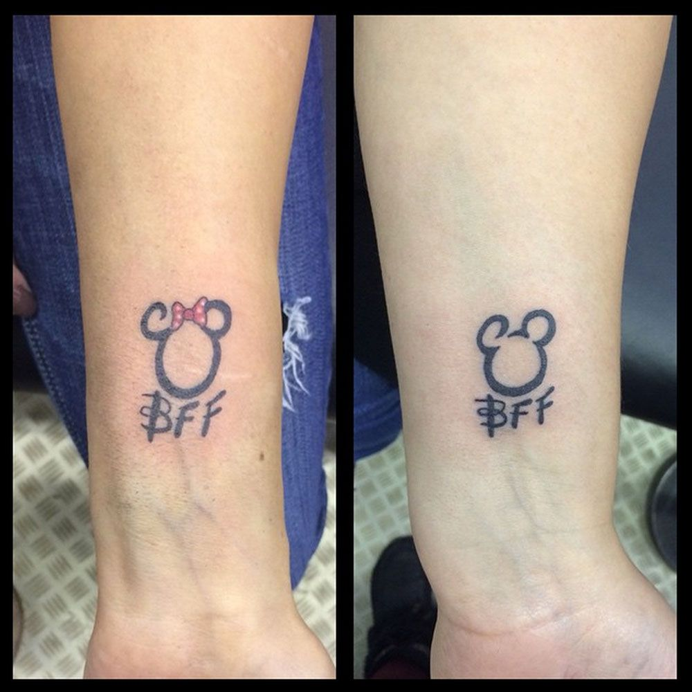 21 Adorable Bff Tattoos T A T T O O S Bff Tattoos border=