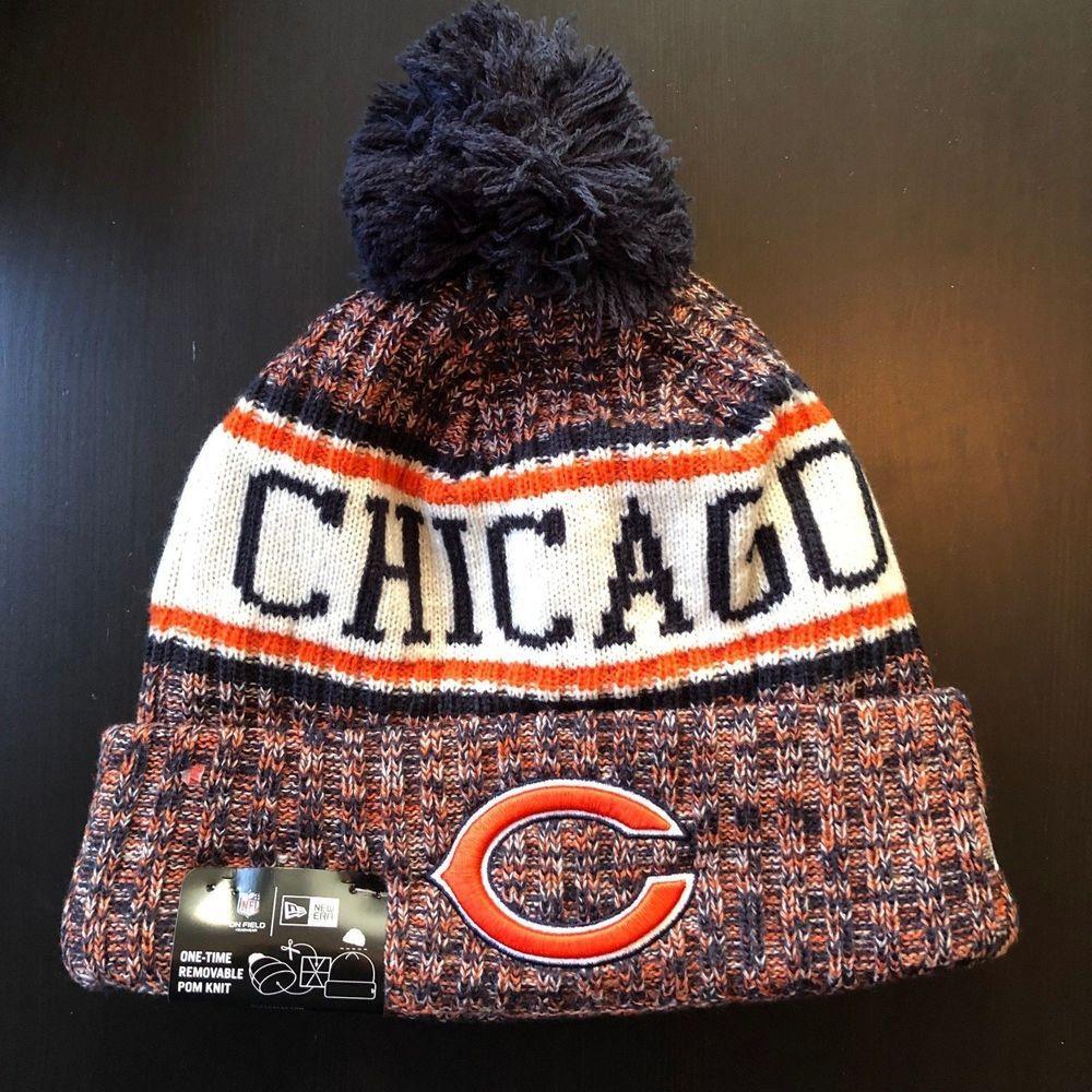 Men s New Era Chicago Bears On Field 2018 Sport Knit Hat Sideline ADULT 2091516b9