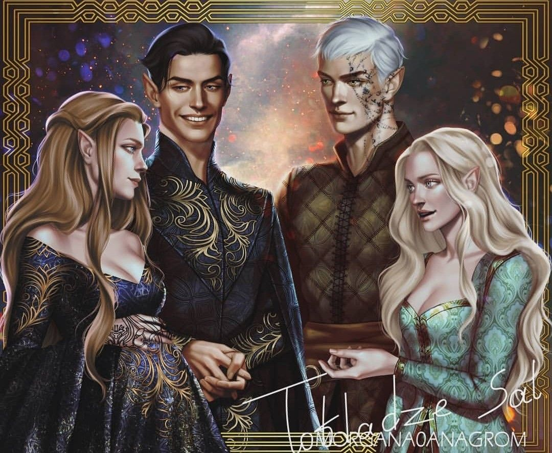 Feyre And Rhysand Aelin And Rowan Night Court Acotar A