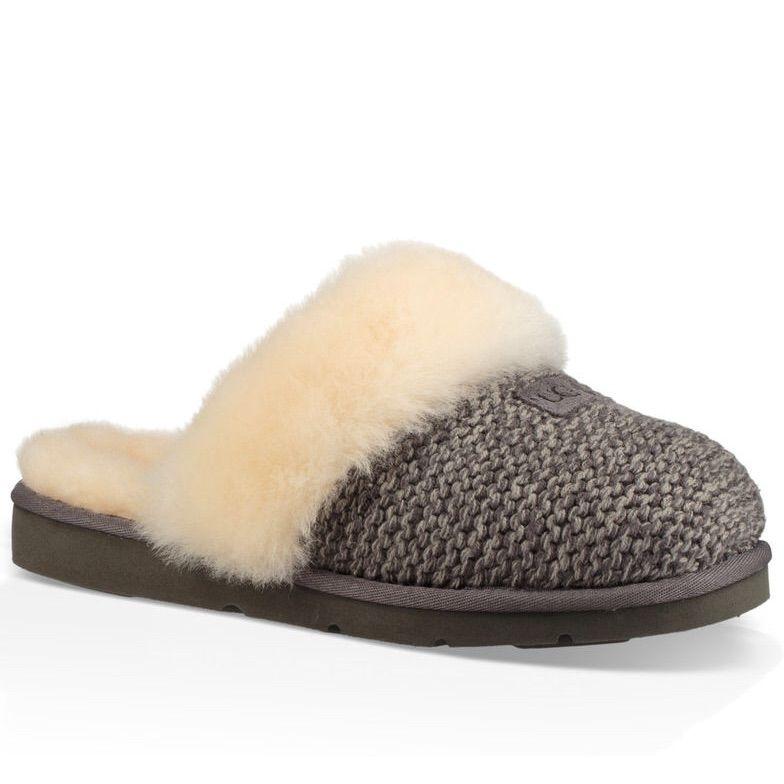 3b6740a9e8b UGG Shoes   Ugh Cozy Knit Slipper Like New   Color: Gray/Tan   Size ...
